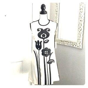 Black and White flower print dress